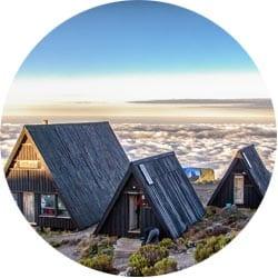 Марангу самый комфортный для восхождения маршрут на самый высокий вулкан Африки