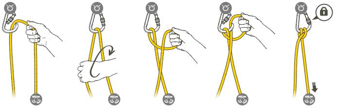 Стремя — популярный узел для самостраховки у альпинистов