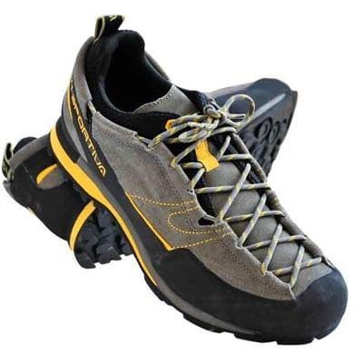 Удобные горные кроссовки от итальянской фирмы La Sportiva, в которых даже можно совершать несложные скальные восхождения