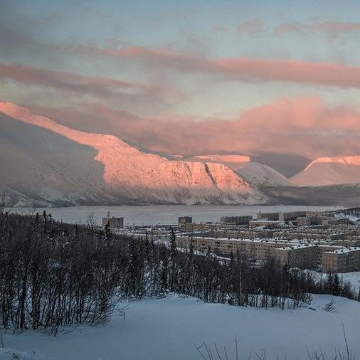 Изображение с городом Кировск, где проводятся учебные сборы по альпинизму