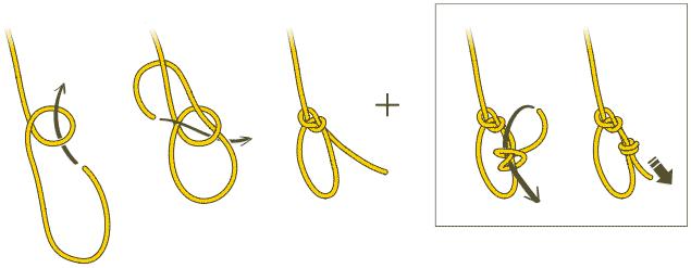Простой булинь должен быть обязательно с контрольным узлом